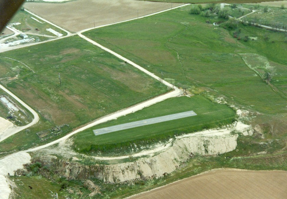 Aerial shot of the field in the second year looking south west at 1500 feet.