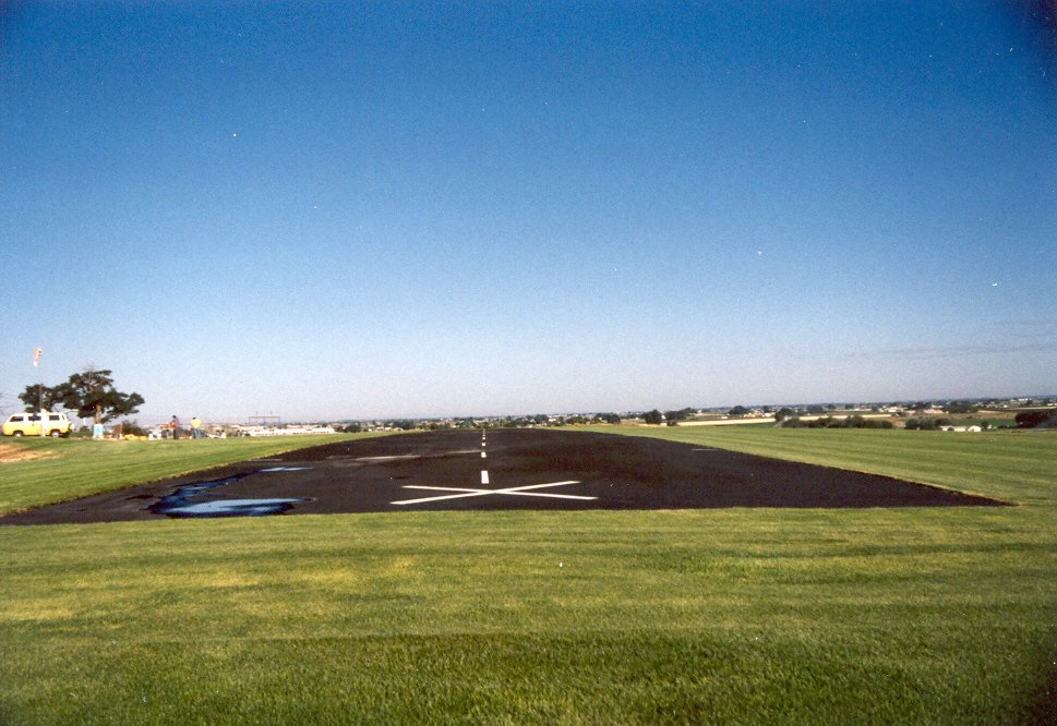 Seal coating and striping was all done. Runway was ready for several more years of fun.
